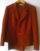 Damski garnitur 3 cześciowy w kolorze bordo