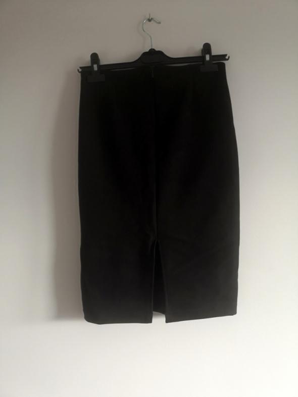 czarna spódnica zamszowa S M L wysoki stan zamsz ołówkowa boho