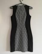 czarna sukienka S M L obcisła boho H&M wyszczuplająca