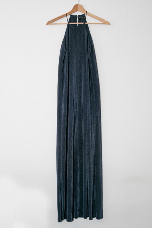 Suknie i sukienki Piękna długa granatowa sukienka Mohito