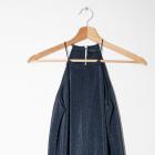 Piękna długa granatowa sukienka Mohito
