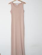 NLY Trend długa dopasowana sukienka nude cielista bandage tuba...