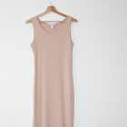 NLY Trend długa dopasowana sukienka nude cielista bandage tuba