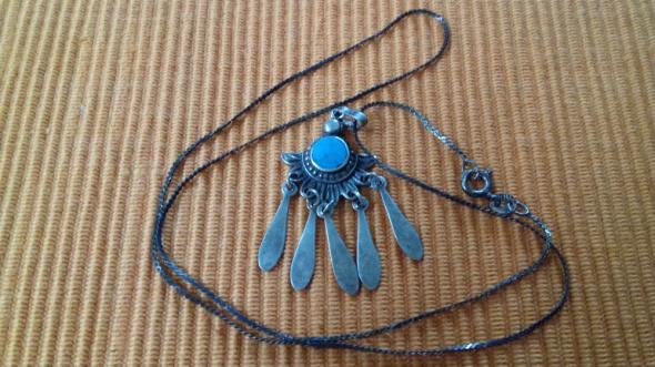 Naszyjnik ze srebra Navajo