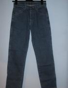 Męskie niebieskie jeansy Wrangler...