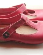 super skórzane wygodne buty fuksja...