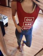 Czerwone body no bra club