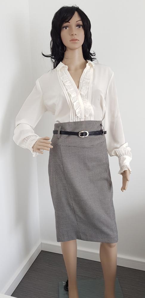 Spódnice Ołówkowa spódnica pepitka ZARA