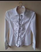 Biała koszula z żabotem S klasyka...