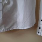 Biała koszula z żabotem S klasyka