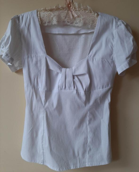 Bluzki Biała bluzeczka kokardka Orsay S