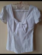 Biała bluzeczka kokardka Orsay S