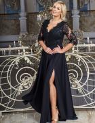 Maxi sukienka czarna S M L XL XXL XXXL 48 50 52 54...