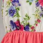 Sukienka neon odkryte plecy