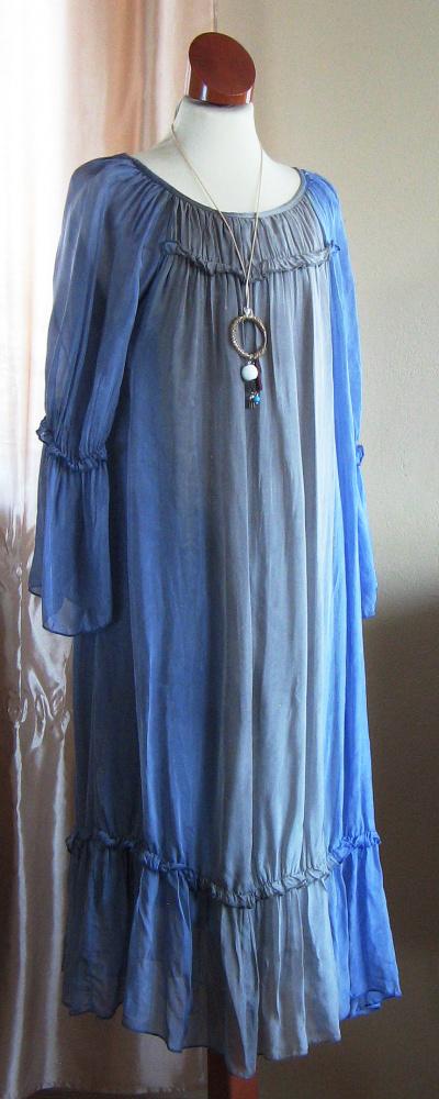 Sukienka błękitna cieniowana NOWA