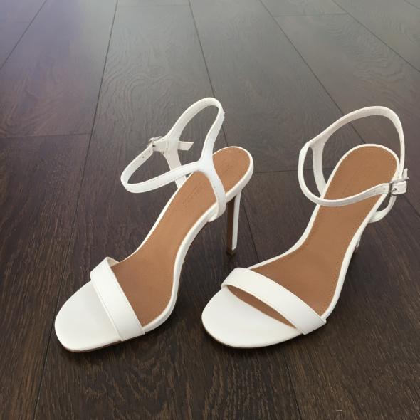 Szpilki białe biel sandały na szpilce Asos 37 nowe z pudełkiem letnie