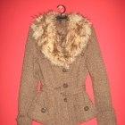 Płaszcz kurtka futerko tweed H&M H&M
