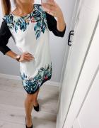 H&M sukienka zwiewna S kwiatki...