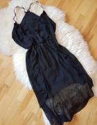 Czarna zwiewna sukienka Tally Weijl 42...