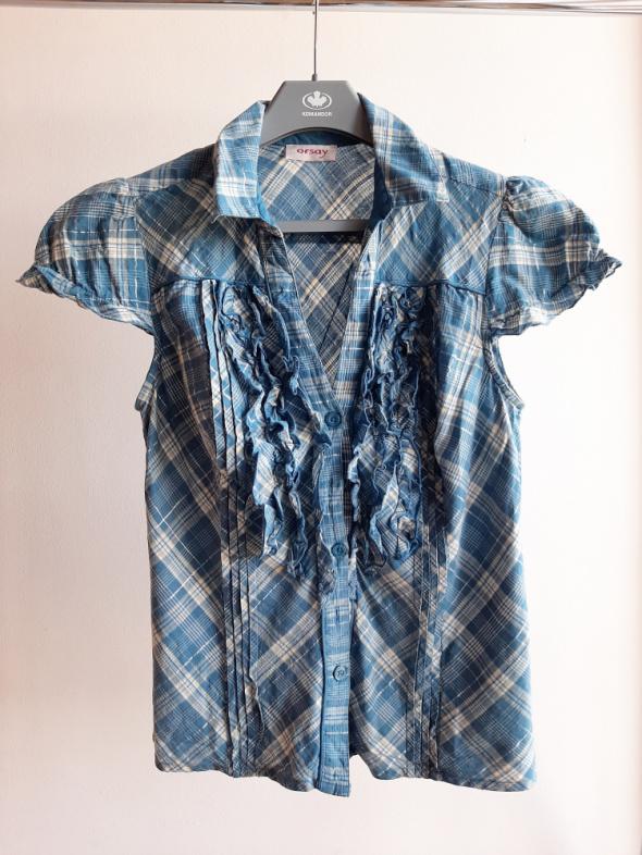 Bluzki Bluzka Orsay z żabotem