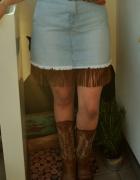 spódnica kowbojska z frędzlami spódnica dla kowbojki...