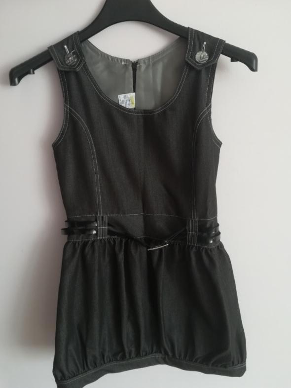 Galowa czarna sukienka dla dziewczynki rozm 140