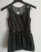 Galowa czarna sukienka dla dziewczynki rozm 140...