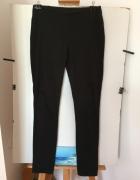 Czarne Eleganckie Spodnie Rurki HM Rozm 40