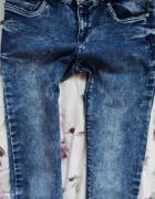 Spodnie rurki DIVERSE marmurki jeans S M elastyczne...