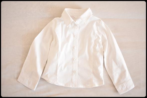 Biała koszula dla eleganckiego chłopca rozmiar 92