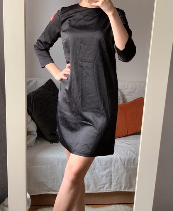 Elegancka sukienka ozdobne plecy h&m rozmiar M...