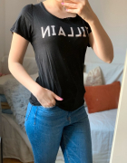 Tshirt bluzka Herosque XS S M czarny napis print...