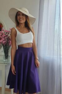Fioletowa spódnica z koła XS midi...