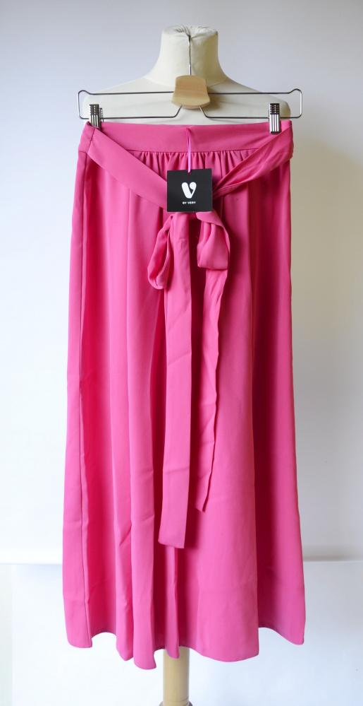 Spódnice Spódnica Różowa Róż V by Vera M 38 Long NOWA Rozporki