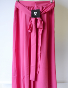 Spódnica Różowa Róż V by Vera M 38 Long NOWA Rozporki...