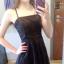 Sukienka mała czarna na ramiączkach koronkowa XS
