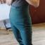 Spodnie damskie ciemnozielone eleganckie typu marchewki S
