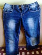 Spodnie dżinsowe damskie rybaczki biodrówki XS...