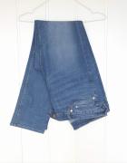 Niebieskie jeansy H&M plus 48 4XL 46 3XL 44 2XL proste dżinsy d...