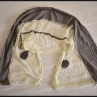 Piękna chusta szal z koronką nietypowa