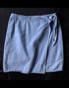 ASOS spódniczka jeans niebieska wiązana rozm XS 34 NOWA...