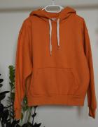 Duża pomarańczowa bluza z kapturem oversize