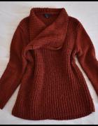 Amisu gruby ciepły sweter narzutka rozmiar 40 L i 42 XL...