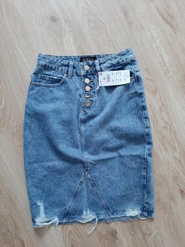 Jeansowa spódnica mohito xxs nowa