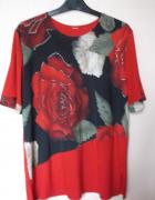 Czerwona bluzka z różą L...