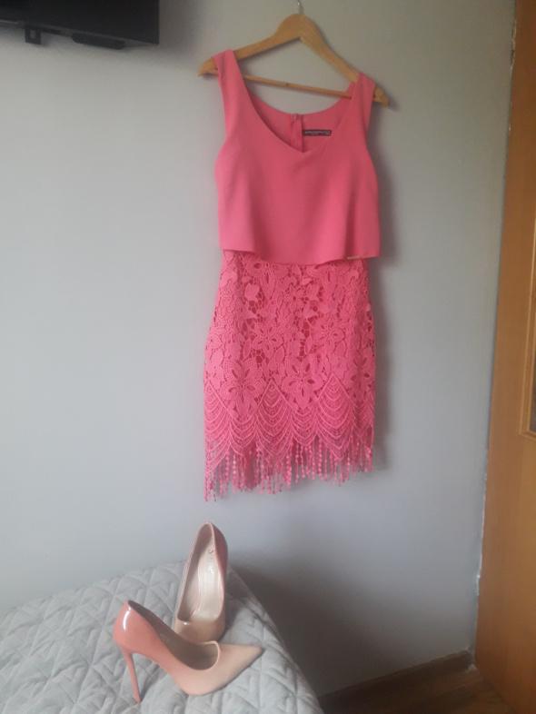 Sukienka z gipiurą By Mielczarkowski r38...