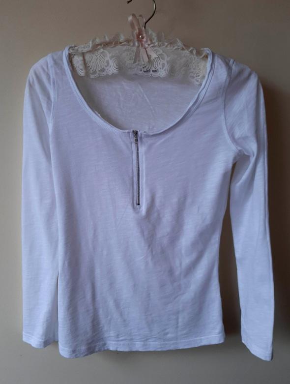 Bluzeczka Tally Weijl biała basic z zamkiem S