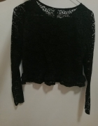 krótka koronkowa bluzka z baskinką 36...