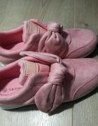 Nowe Różowe buty z kokardką 38...
