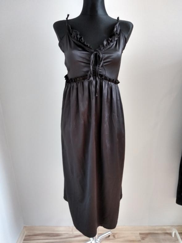 Czarna satynowa sukienka H&M nowa...